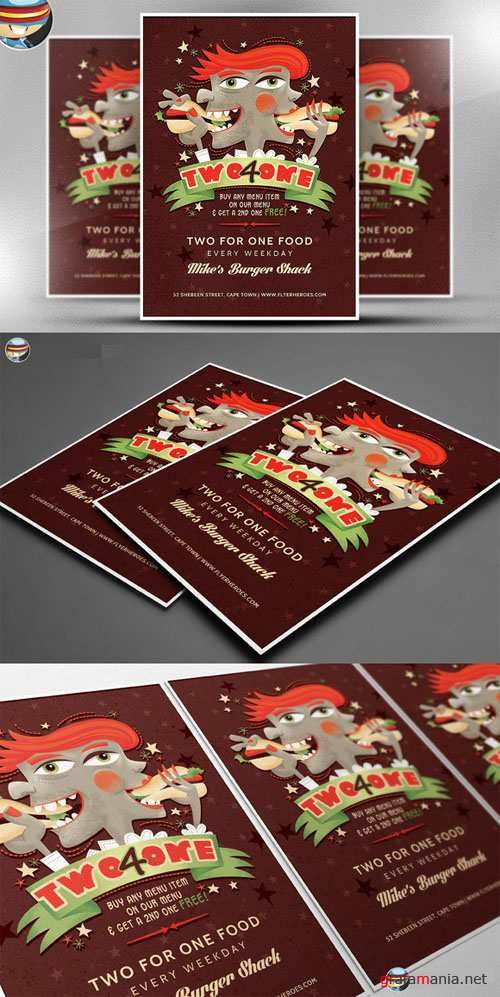 CreativeMarket - Two For One Flyer Template