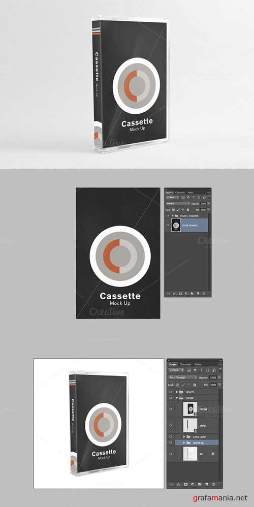 CreativeMarket - Cassette Mock Up