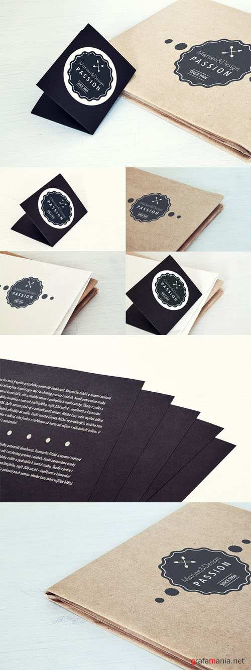CreativeMarket - Paper Card and Paper Mock-Up