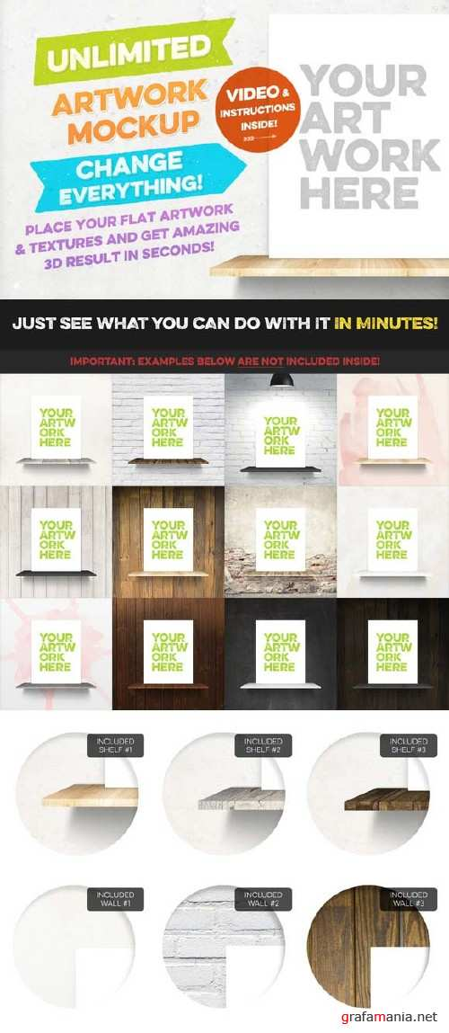 CreativeMarket Unlimited Artwork Mockup