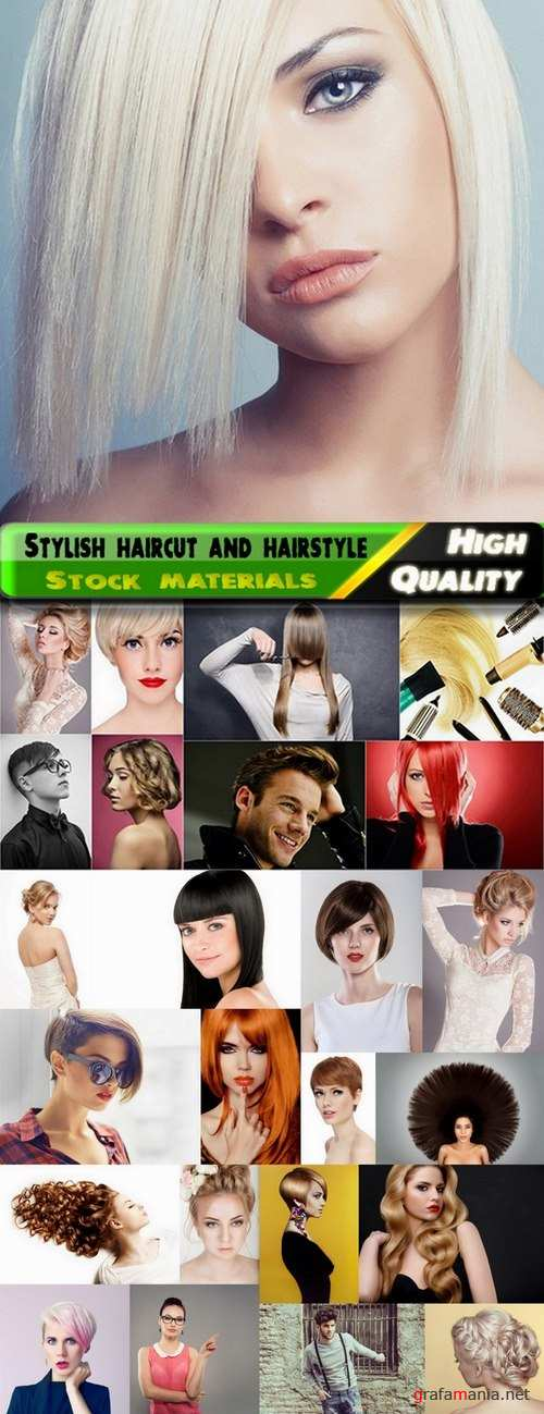 Stylish haircut and hairstyle Stock images - 25 HQ Jpg