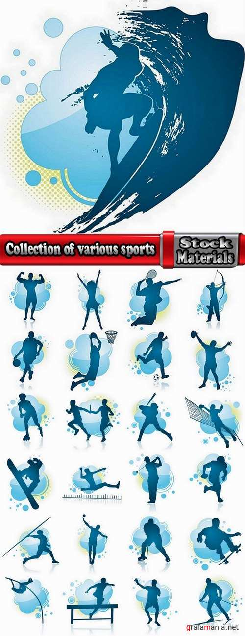 Collection of various sports 25 Ai