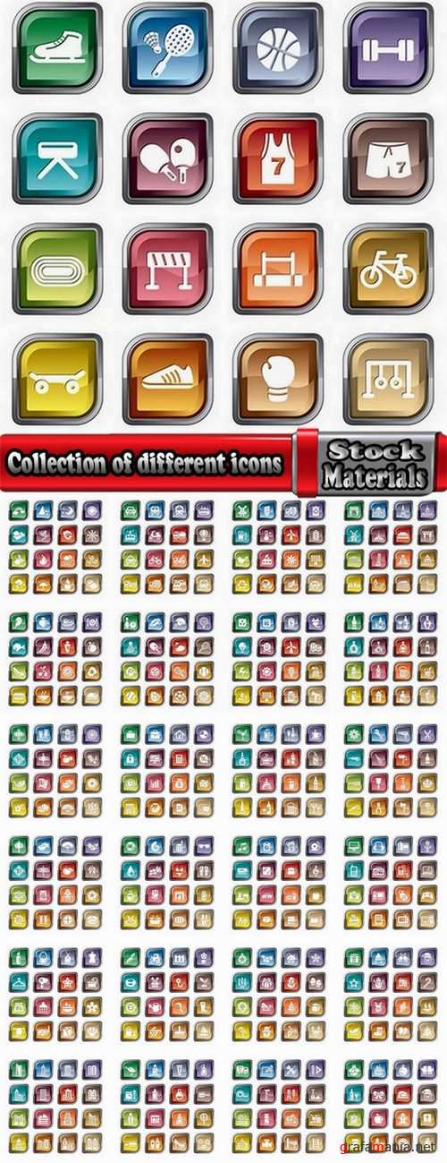 Collection of different icons #2-25 Eps
