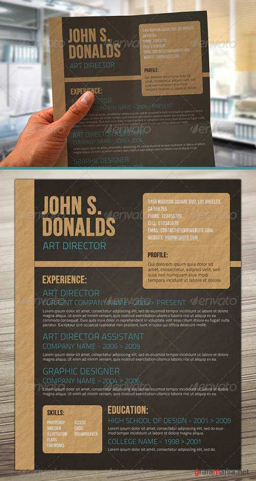 GraphicRiver Craft Paper Style Resume