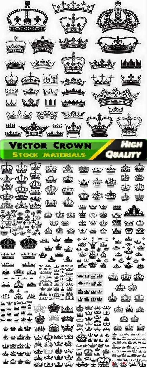 Crown and heraldic elements in vector from stock - 25 Eps