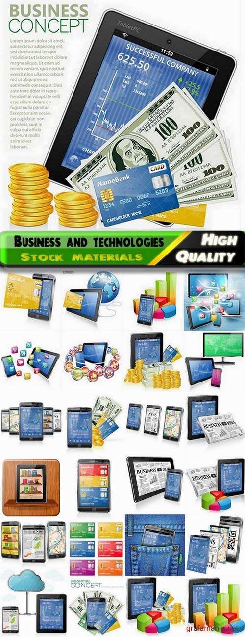 Business and technologies in vector from stock - 25 Eps