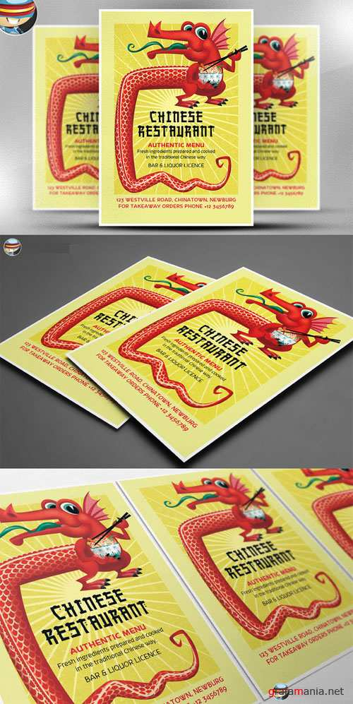 CreativeMarket - Chinese Food Flyer Template