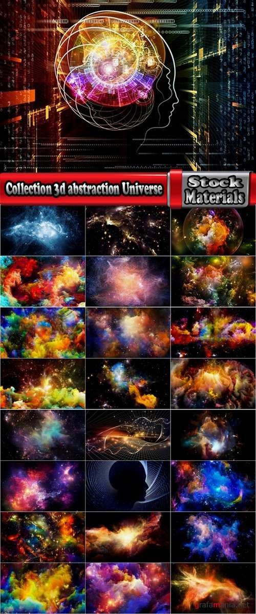 Collection 3d abstraction Universe 25 UHQ Jpeg