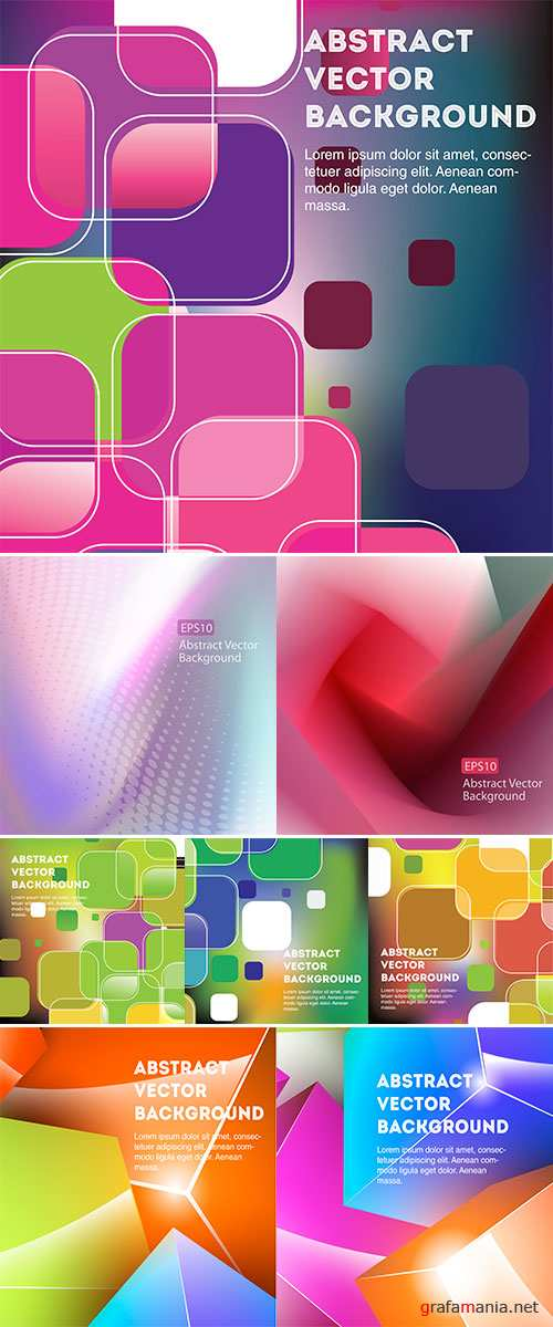 Stock: Bright and colorful vector geometric rectangular background