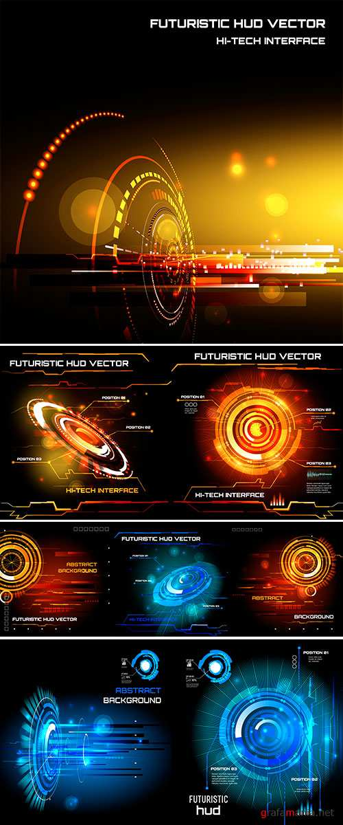 Stock Futuristic interface, HUD, vector background