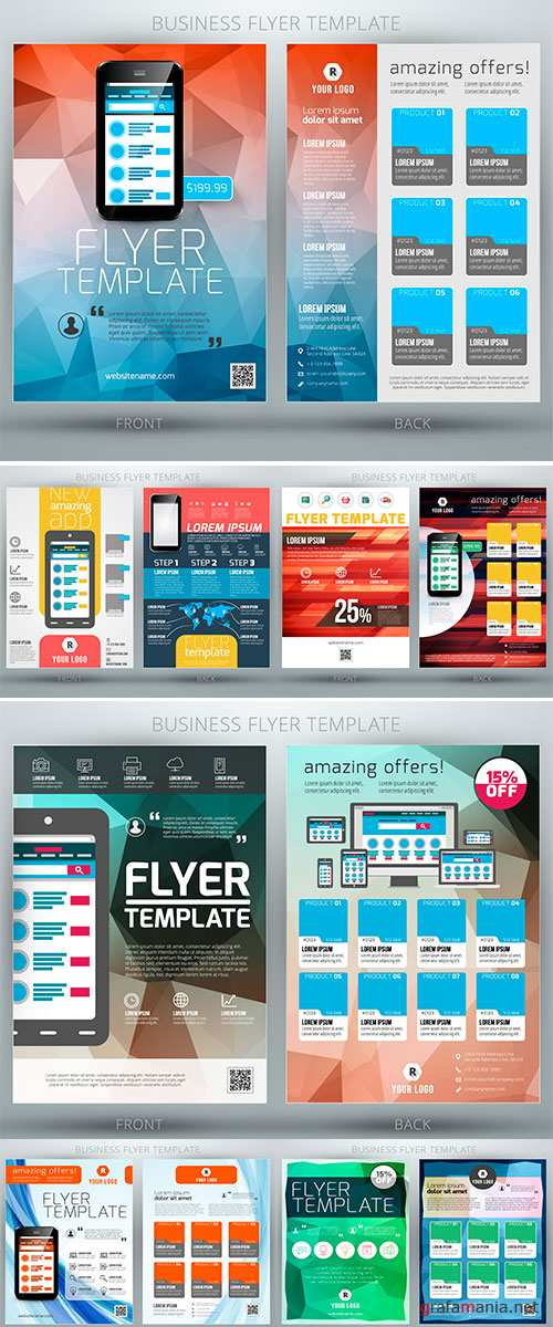 Stock: Abstract vector business flyer brochure template
