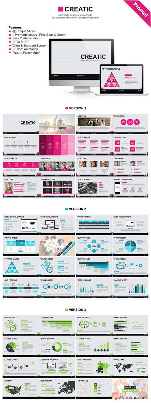 CreativeMarket - Creatic - Powerpoint Template 94090