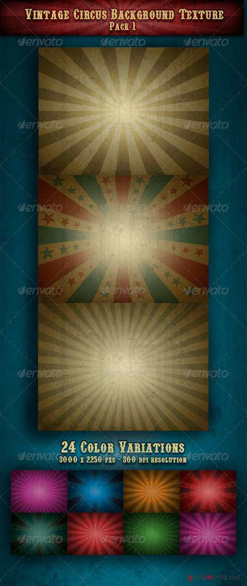 Vintage Circus Backgrounds Textures Pack 1