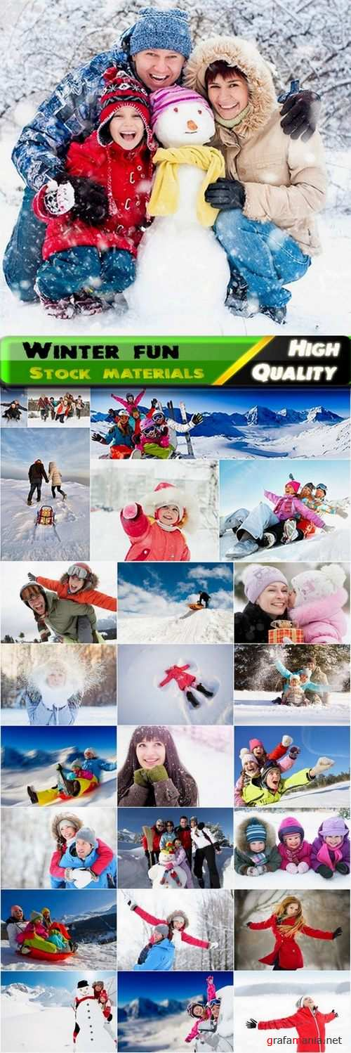 Winter fun and family vacation Stock images - 25 HQ Jpg