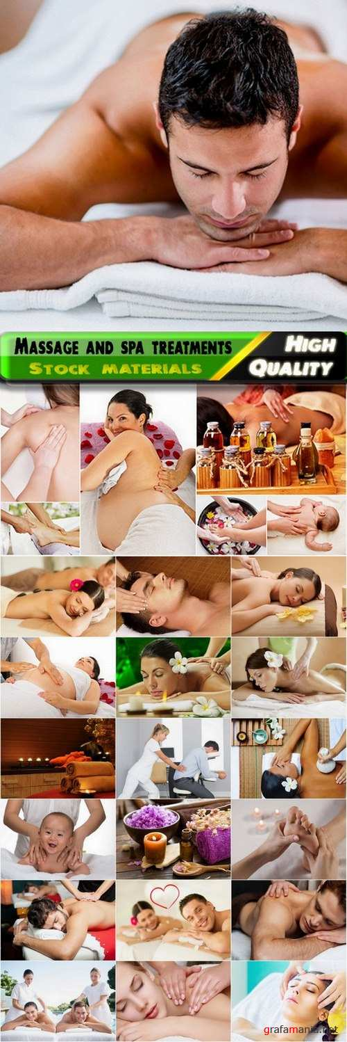 Massage and spa treatments Stock images - 25 HQ Jpg