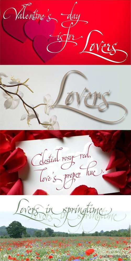 Lovers Pro Font Family