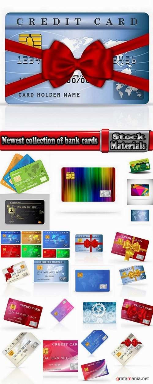 Newest collection of bank cards 25 Eps
