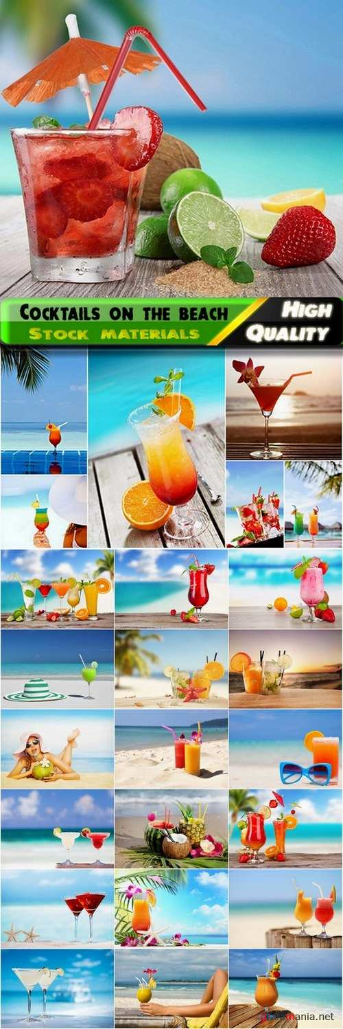 Cocktails on the beach Stock images - 25 HQ Jpg