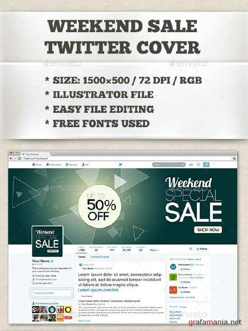 GraphicRiver Weekend Sale Twitter Cover