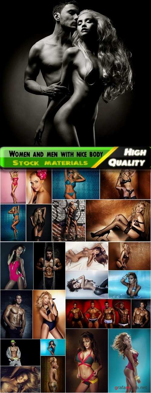 Women and men with nice body Stock images - 25 HQ Jpg