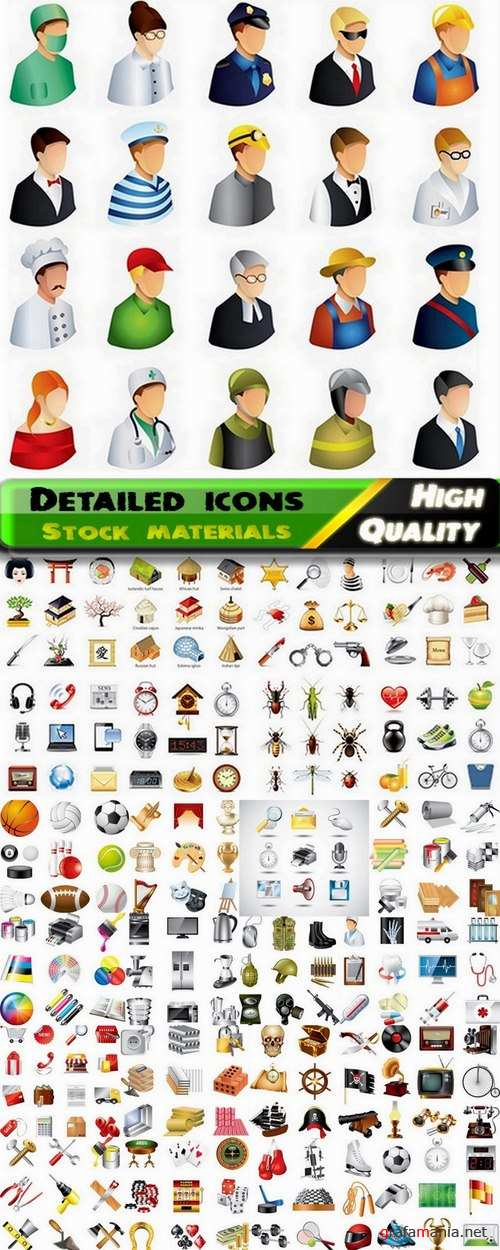 Detailed icons in vector set from stock #15 - 25 Eps