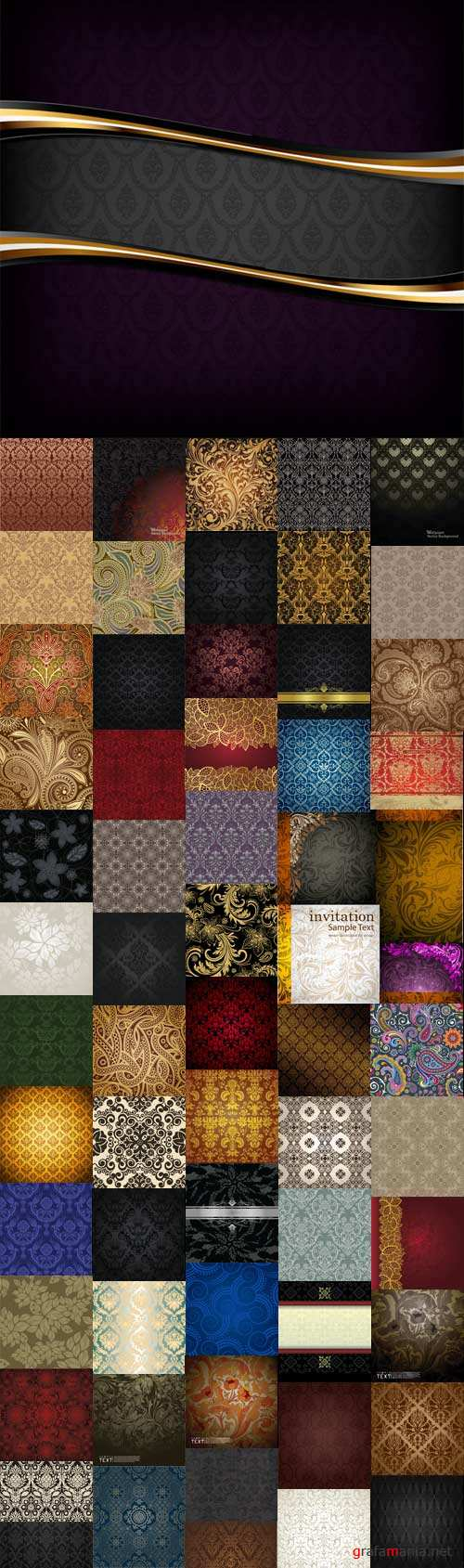 Awesome vintage vector backgrounds