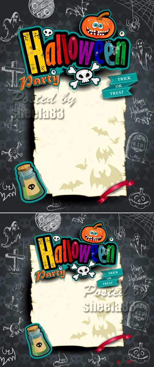 Halloween Templates Vector