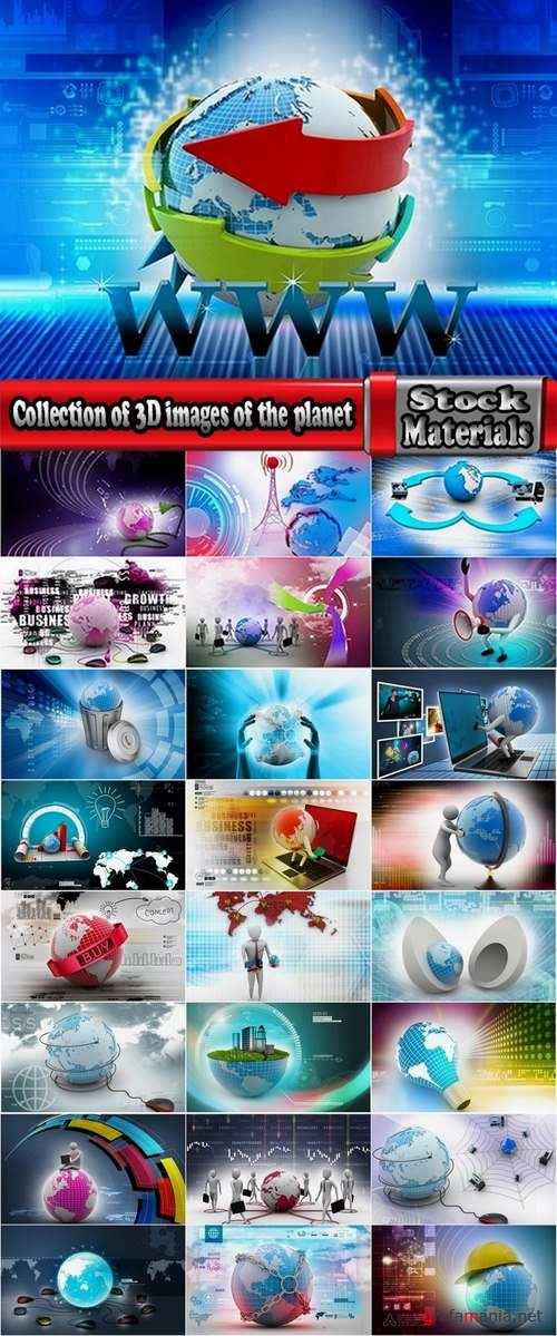 Collection of 3D images of the planet 25 UHQ Jpeg
