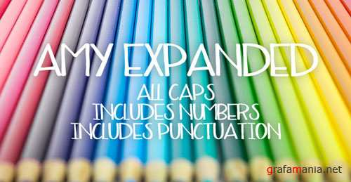CreativeMarket - Amy Expanded Font
