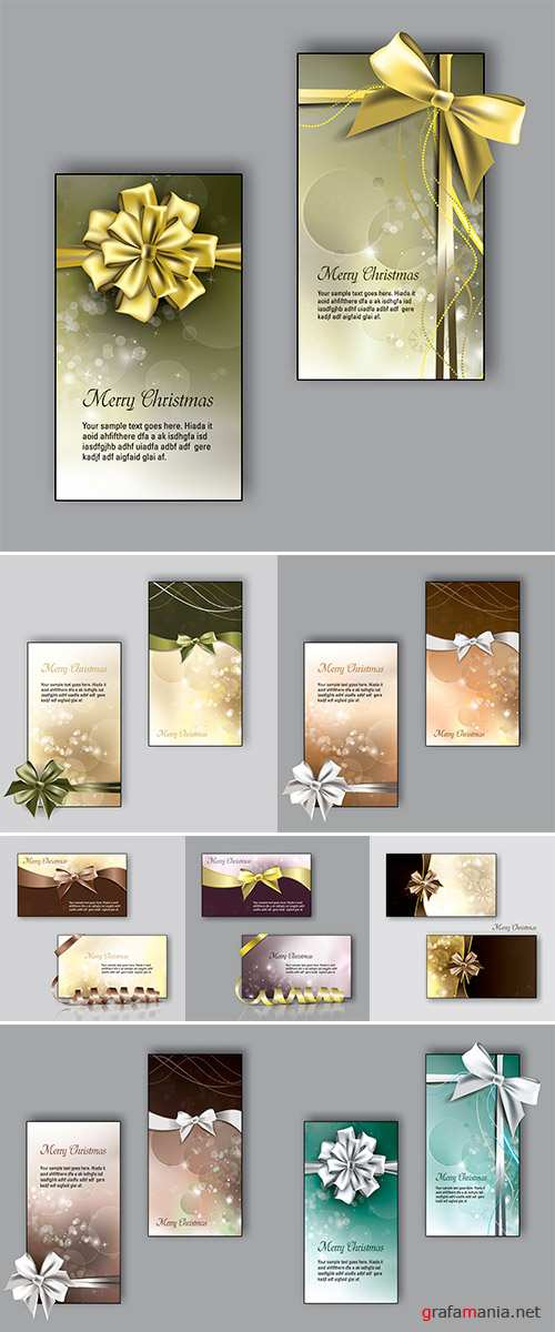 Stock Christmas Greeting Cards, Vector Design
