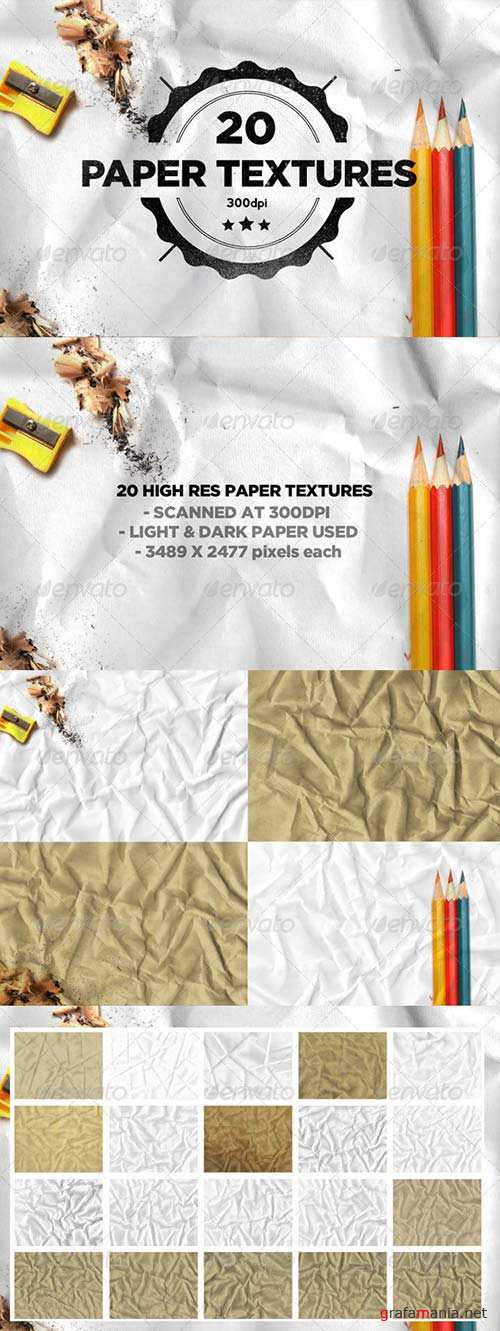GraphicRiver 20 Folded Paper Textures