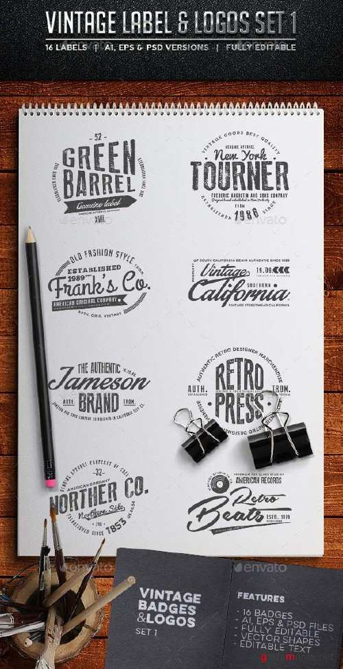 GraphicRiver Vintage Badges & Labels Set 1