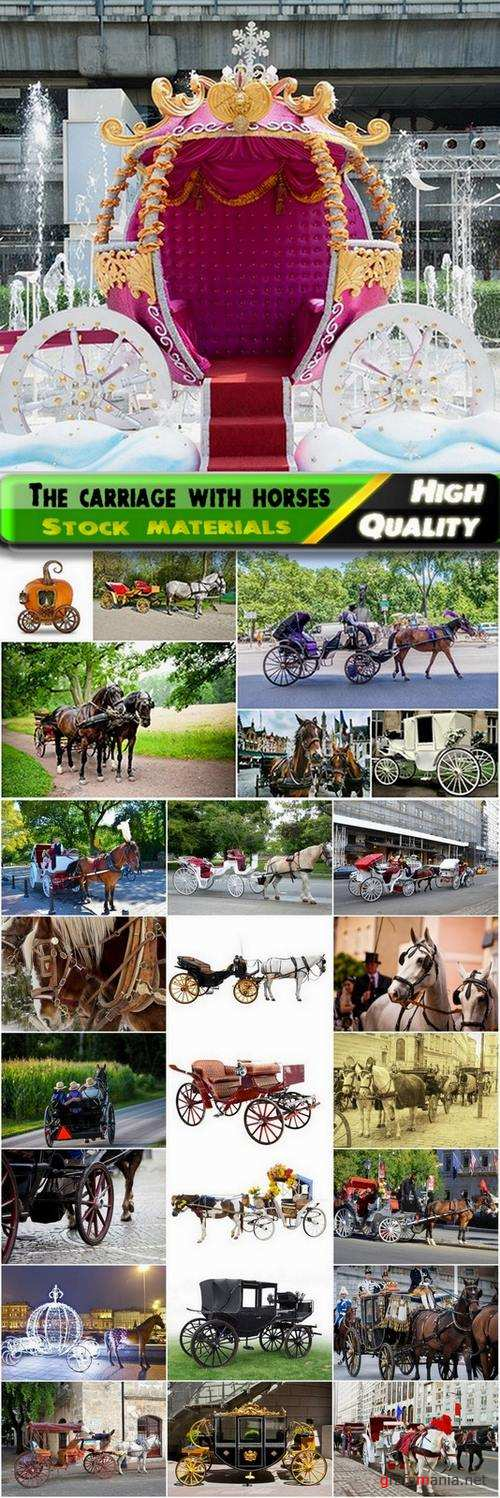 The carriage with horses Stock images - 25 HQ Jpg