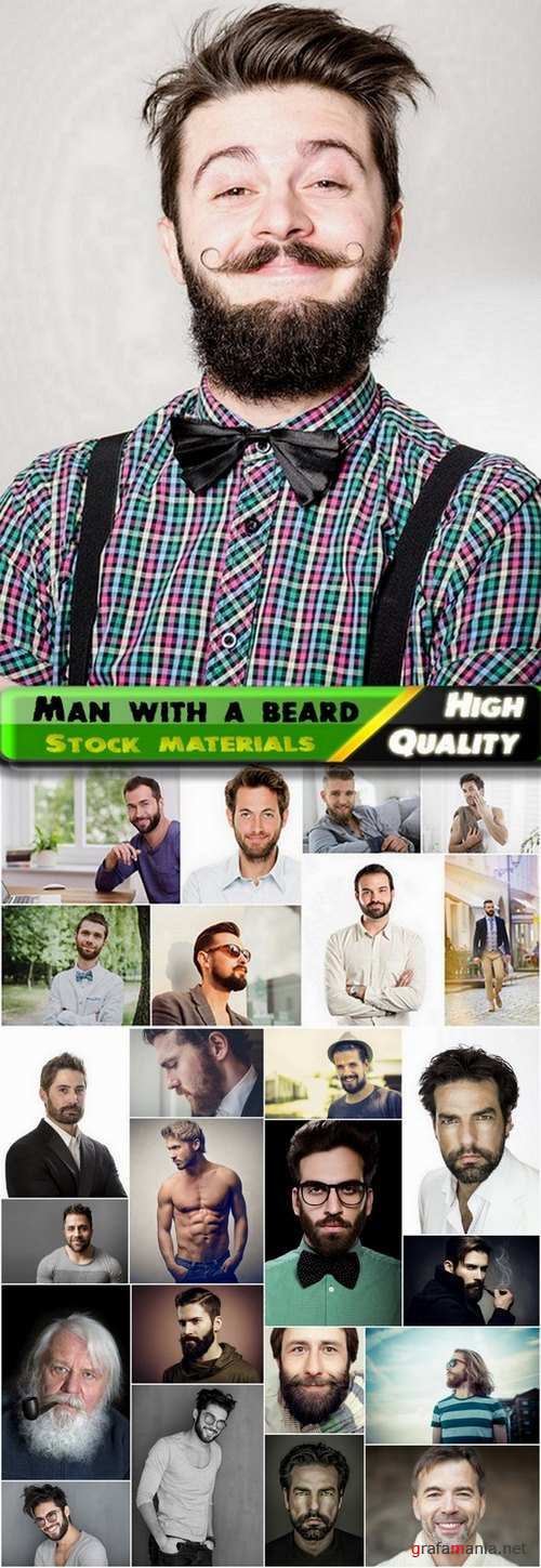 Man with a beard Stock images - 25 HQ Jpg