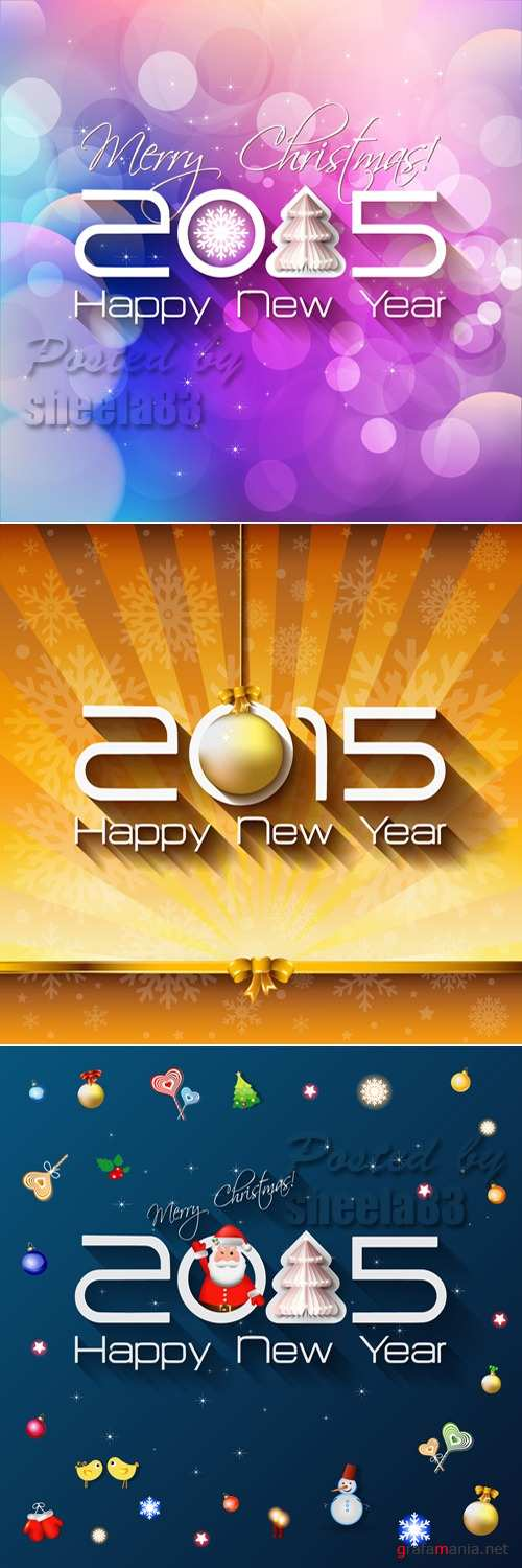 New Year 2015 Vector 2