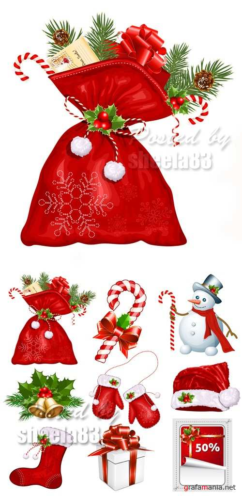 Christmas Design Elements Vector 4