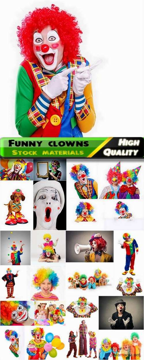 Colorful funny clowns Stock images - 25 HQ Jpg