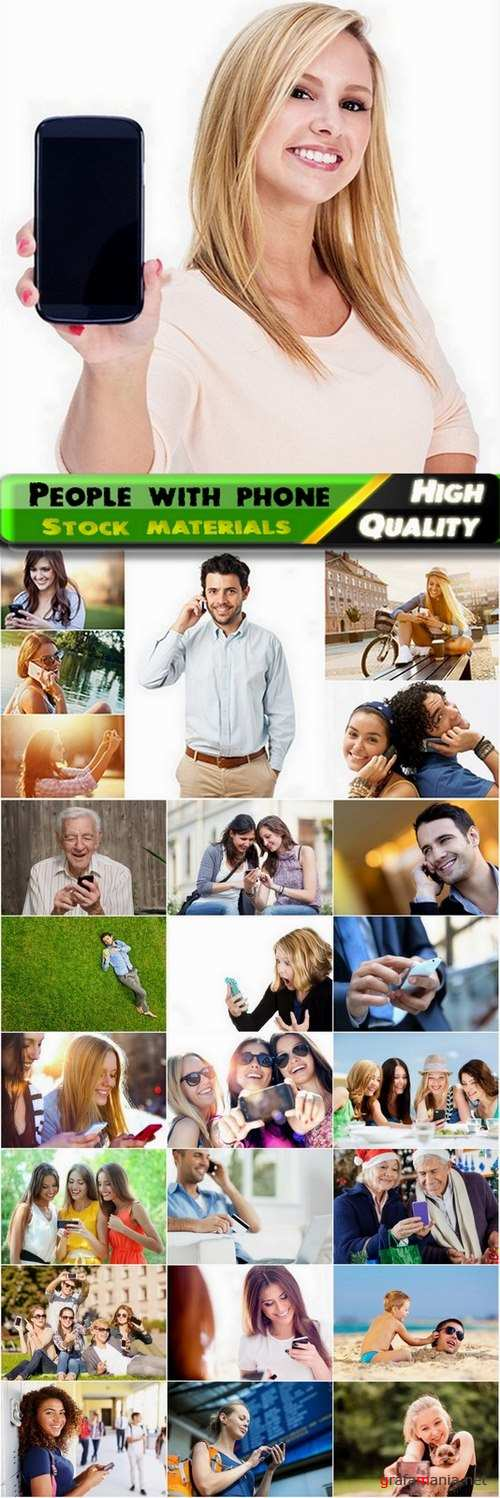 People with phone Stock images - 25 HQ Jpg