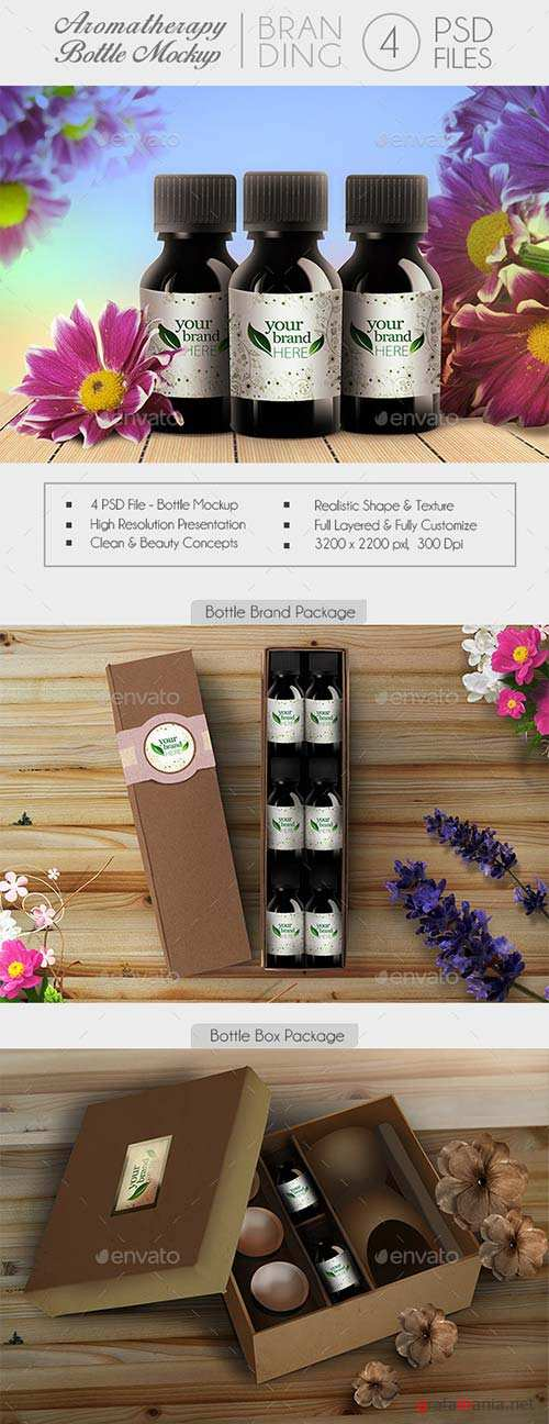 GraphicRiver Aromatherapy Bottle Branding Mock-Up