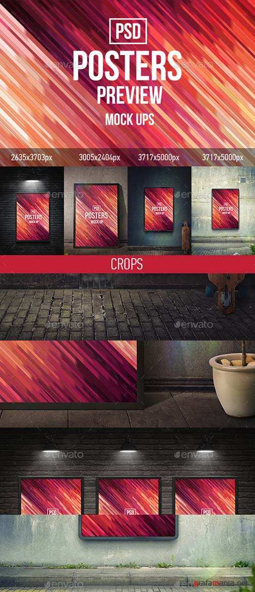 GraphicRiver Posters Mock-Ups (PSD)