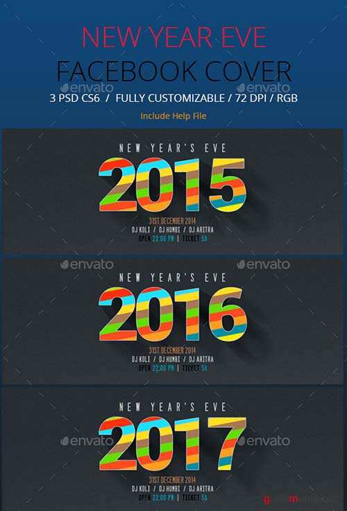 GraphicRiver New Year Facebook Timeline