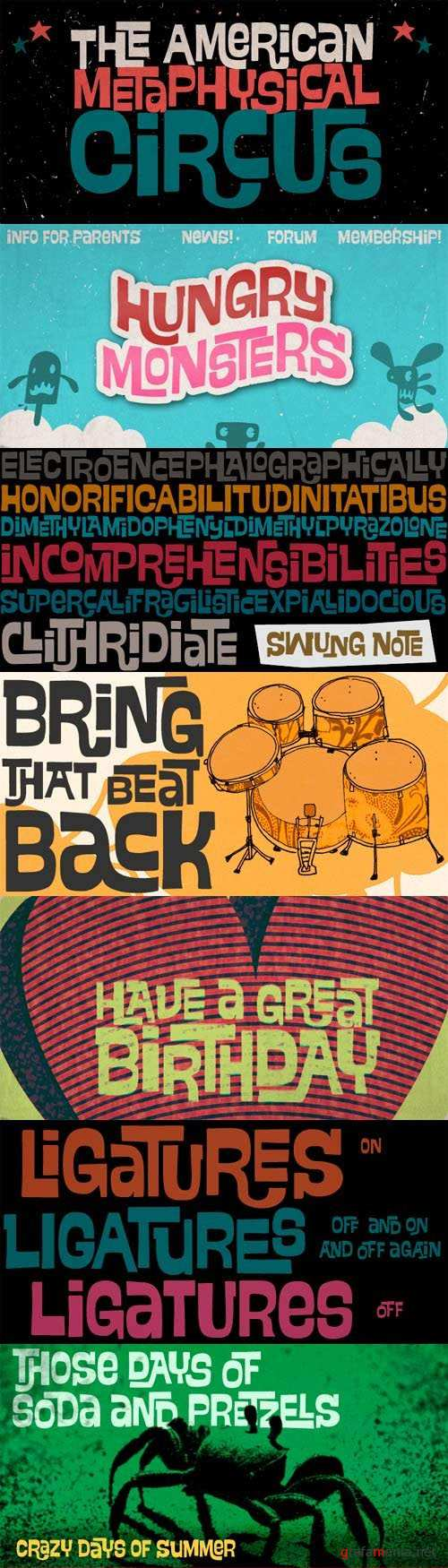 Swung Note Font Family