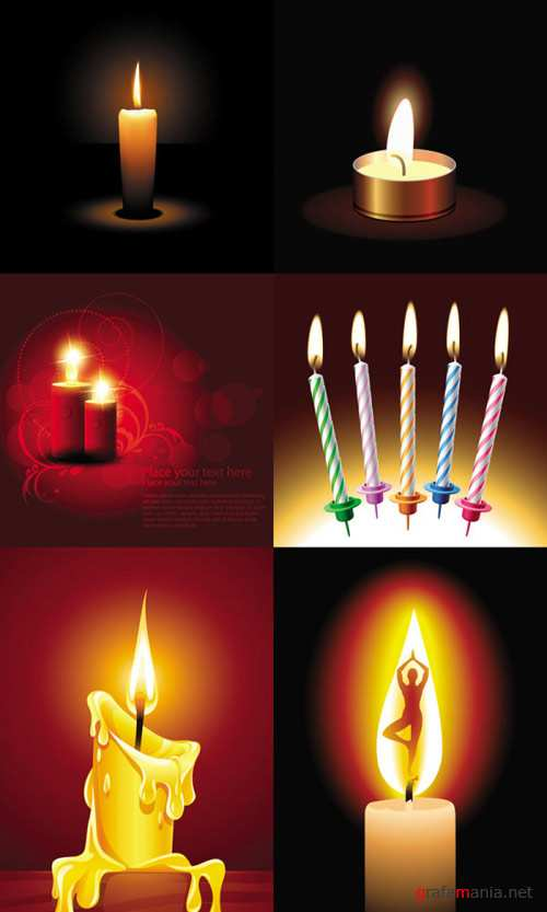 Beautifully romantic candlelight vector