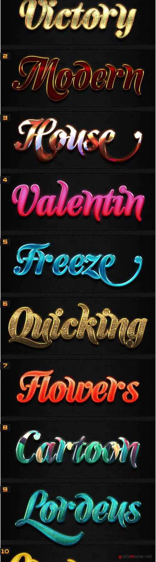 12 New Awesome Text Effect Styles