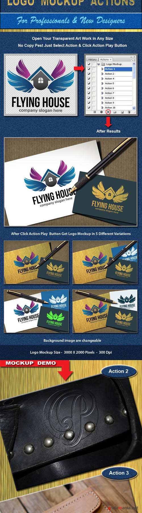 GraphicRiver - 30+ Realistic Logo Mockup Actions 8956989