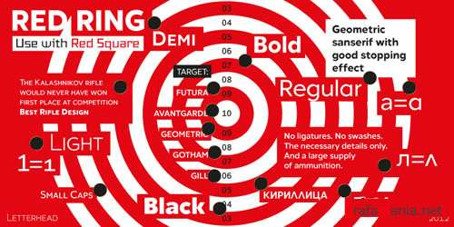Red Ring Font Family