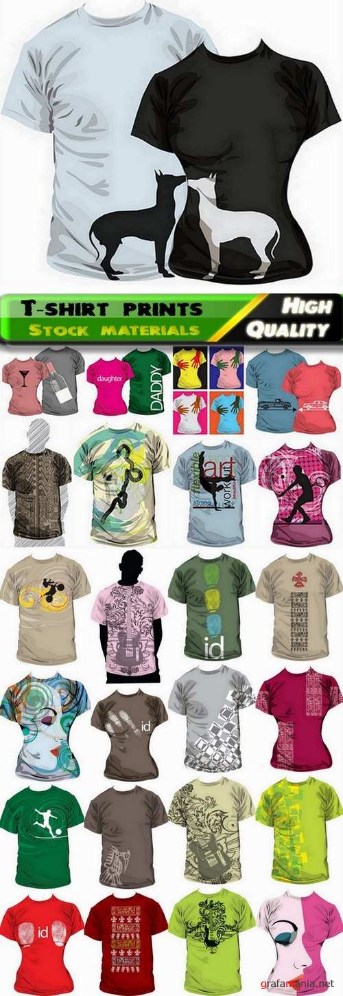 T-shirt prints design in vector from stock #14 - 25 Eps