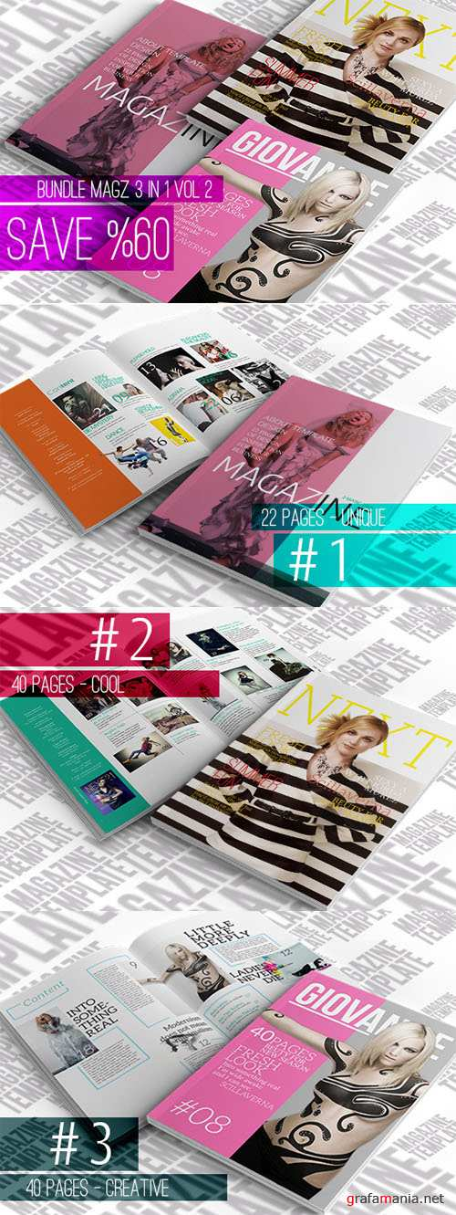 CreativeMarket - Bundle Magazine 3in1 - 2