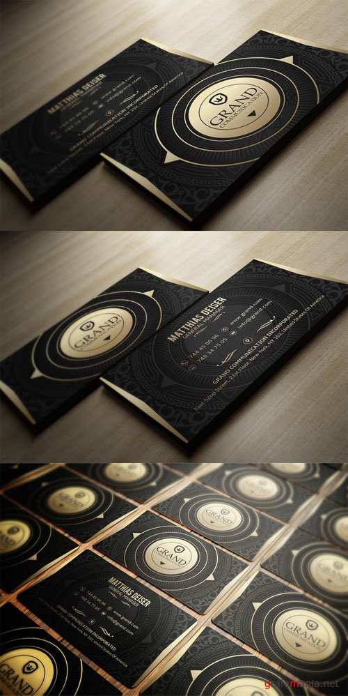 CreativeMarket - Gold And Black Business Card