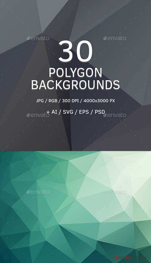 GraphicRiver Polygon Backgrounds or Triangle Textures